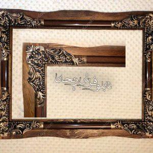 قاب تابلو فرش قاب چوبی |قاب دست ساز |قاب تابلوفرش |قاب | rhf12-2