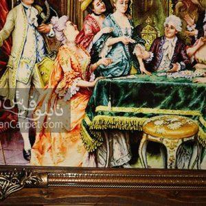 پاسور باز | تابلو فرش پاسور باز | نقاشی فرانسوی | تابلوفرش ریحان | تابلو فرش | تابلو چاپی | تابلو فرش شاعر جوان | تابلو فرش دکوری | هدیه | هدیه لاکچری | کادو | تابلو فرش تزئینی |