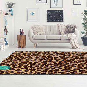 فرش سفارشی طرچ پوست چیتا | فرش ماشینی | فرش طرج چدید | فرش مدرن |