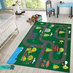 فرش ماشینی | فرش اتاق کودک | فرش بازی کودک | فرش سفارشی | فرش چدید | فرش سبز | فرش ماشین بازی |