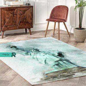 فرش ماشینی مدرن طرخ مجسمه آزادی